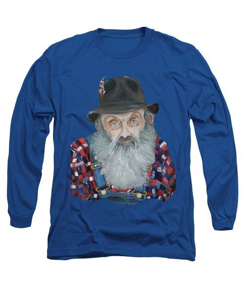 Popcorn Sutton Moonshiner Bust - T-shirt Transparent Long Sleeve T-Shirt by Jan Dappen