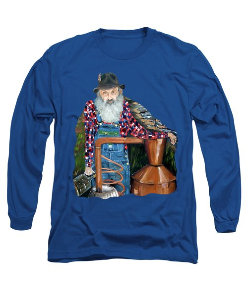 Popcorn Sutton Moonshiner - Tshirt Transparent Torso Long Sleeve T-Shirt