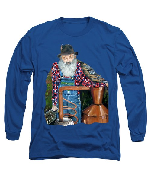 Popcorn Sutton Moonshiner - Tshirt Transparent Torso Long Sleeve T-Shirt