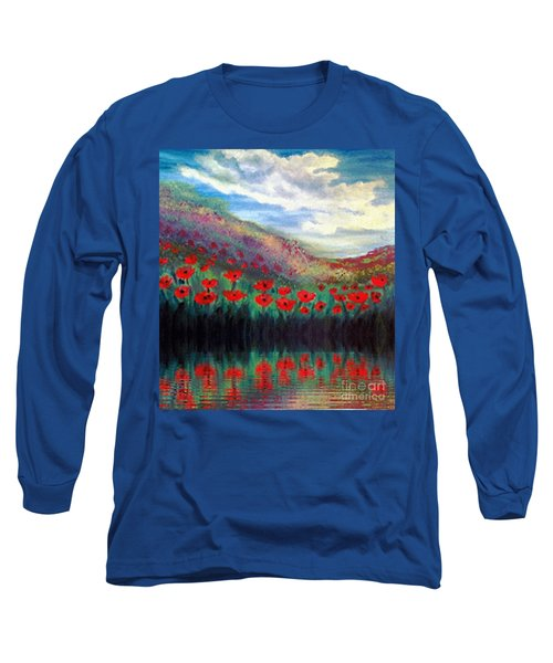 Poppy Wonderland Long Sleeve T-Shirt by Holly Martinson