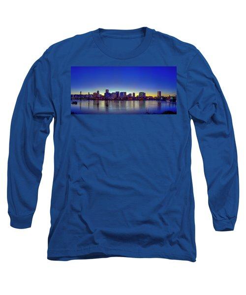 Portland Cityscape Long Sleeve T-Shirt