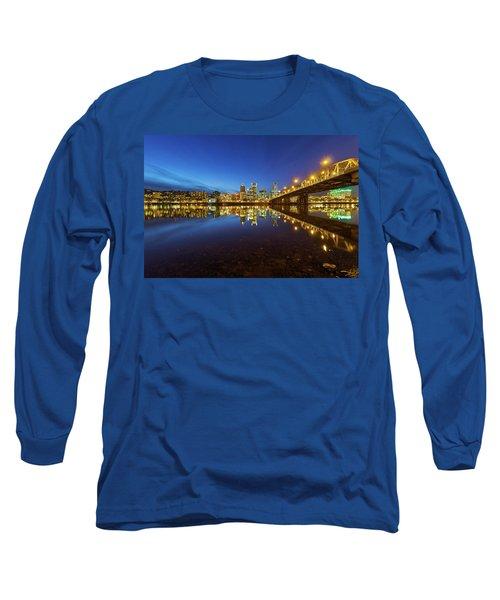 Portland Downtown Blue Hour Long Sleeve T-Shirt