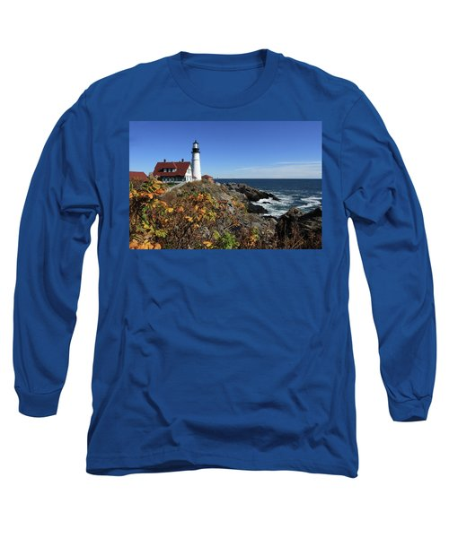 Portland Head Lighthouse In The Fall Long Sleeve T-Shirt
