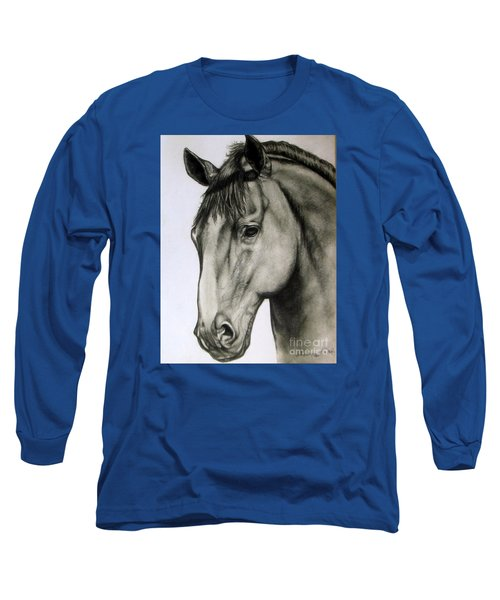 Portrait Of A Horse Long Sleeve T-Shirt