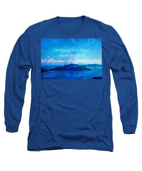 Power Of Love Long Sleeve T-Shirt by Joan Reese