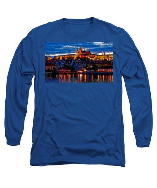 Prague Castle In The Evening Long Sleeve T-Shirt