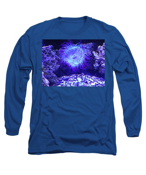 Long Sleeve T-Shirt featuring the photograph Predatory Terrestrial Sea Anemone by Richard W Linford
