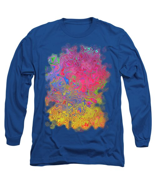 Psychedelic Laundry Transparent Design Long Sleeve T-Shirt by Shelly Weingart