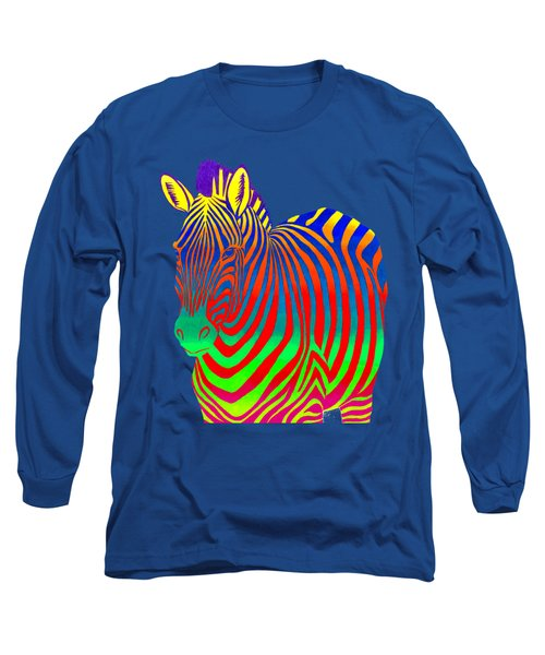 Psychedelic Rainbow Zebra Long Sleeve T-Shirt
