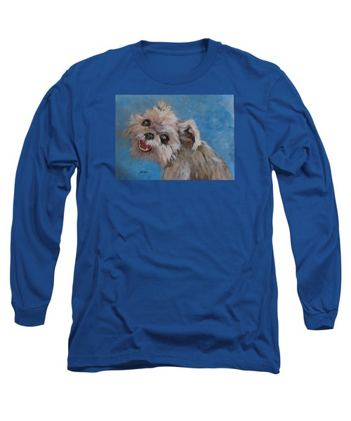 Pudgy Smiles Long Sleeve T-Shirt by Barbara O'Toole