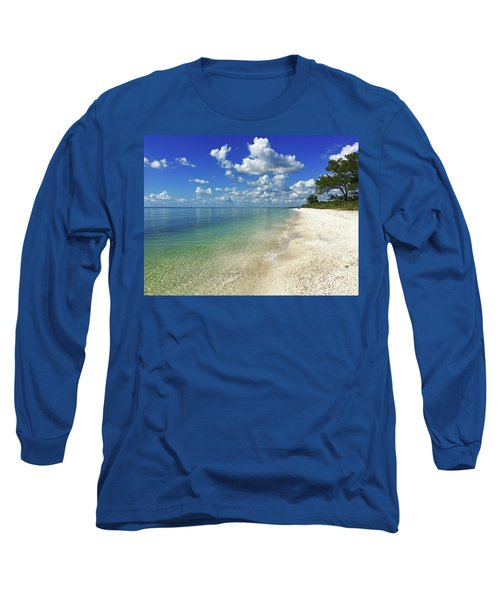 Puffy White Clouds At Delnor-wiggins Long Sleeve T-Shirt