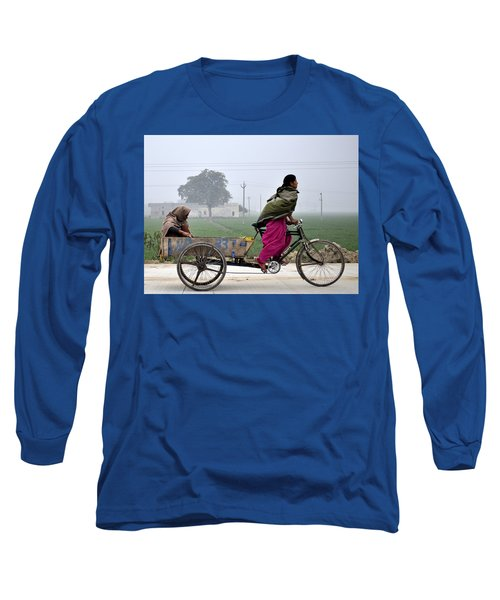 Long Sleeve T-Shirt featuring the photograph Pull Of Life by Bliss Of Art