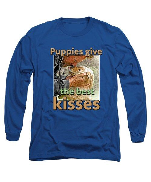 Long Sleeve T-Shirt featuring the digital art Puppy Love by Richard Farrington