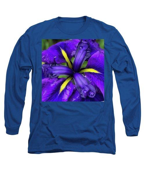 Purple Iris Centre Long Sleeve T-Shirt