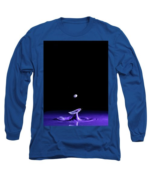 Purple Mushroom Long Sleeve T-Shirt