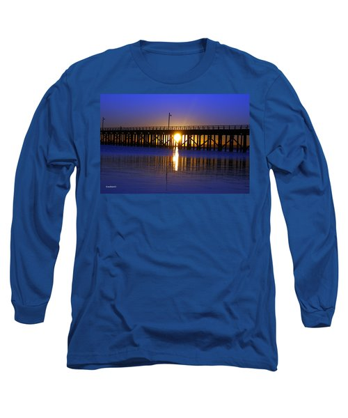 Purple Ocean Sunrise Long Sleeve T-Shirt
