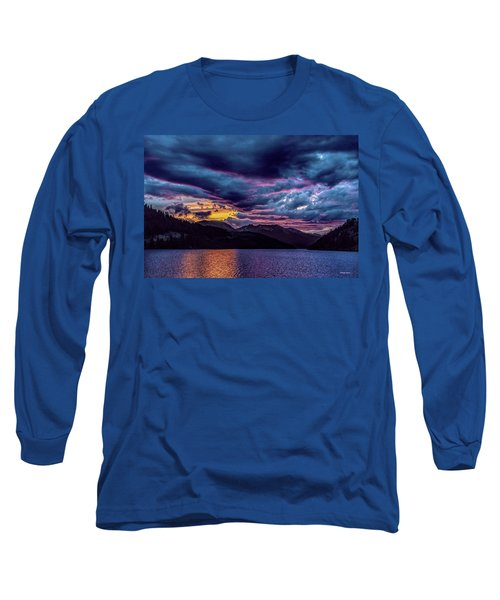 Purple Sunset At Summit Cove Long Sleeve T-Shirt
