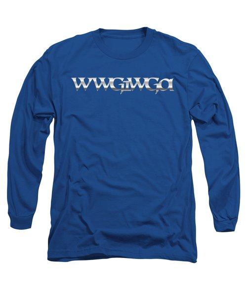 Qanon Wwg1wga Blue Long Sleeve T-Shirt