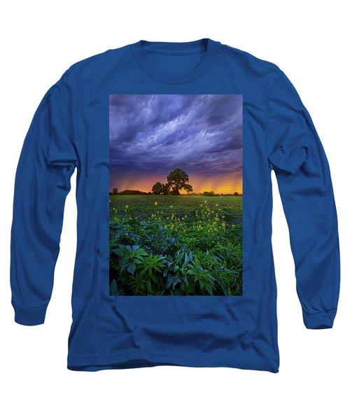 Quietly Drifting By Long Sleeve T-Shirt by Phil Koch