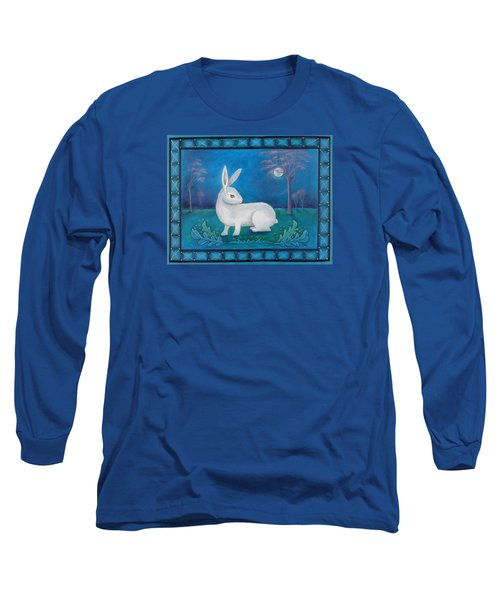 Long Sleeve T-Shirt featuring the painting Rabbit Secrets by Terry Webb Harshman