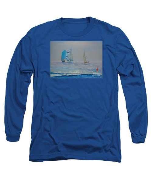 Raceing In The Fog Long Sleeve T-Shirt by Rae  Smith