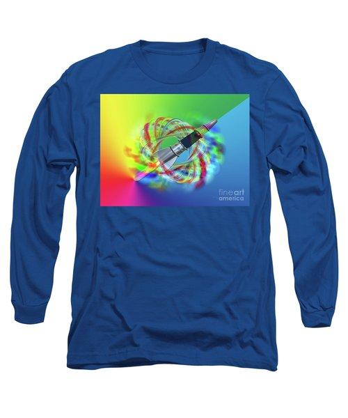 Long Sleeve T-Shirt featuring the photograph Rainbow Rocket Orbits by Rockin Docks Deluxephotos