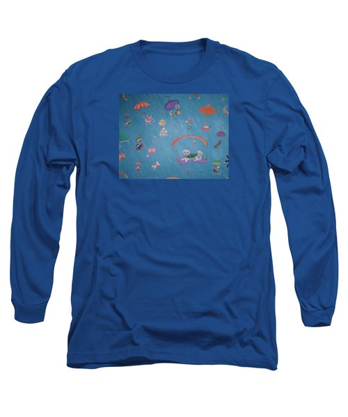 Raining Cats And Dogs Long Sleeve T-Shirt by Dee Davis