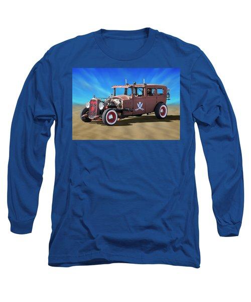 Long Sleeve T-Shirt featuring the photograph Rat Rod On Beach 3 by Mike McGlothlen