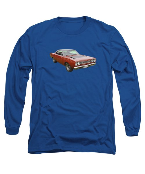 Red 1968 Plymouth Roadrunner Muscle Car Long Sleeve T-Shirt