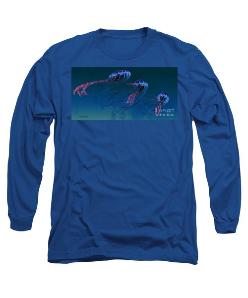 Red And Blue Jellyfish Long Sleeve T-Shirt