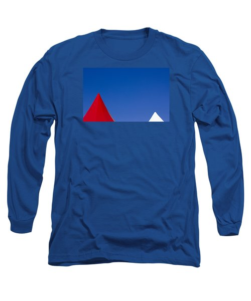 Long Sleeve T-Shirt featuring the photograph Red And White Triangles by Prakash Ghai