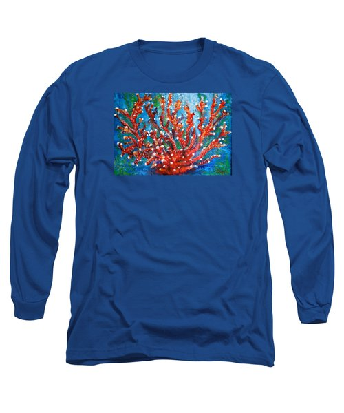 Red Coral Long Sleeve T-Shirt by Edgar Torres
