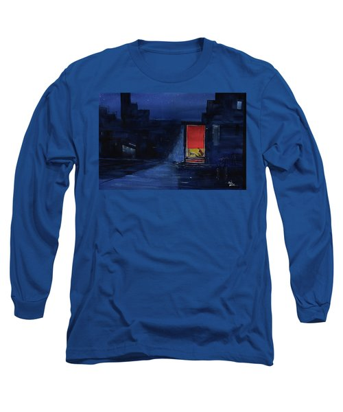 Red Curtain Long Sleeve T-Shirt