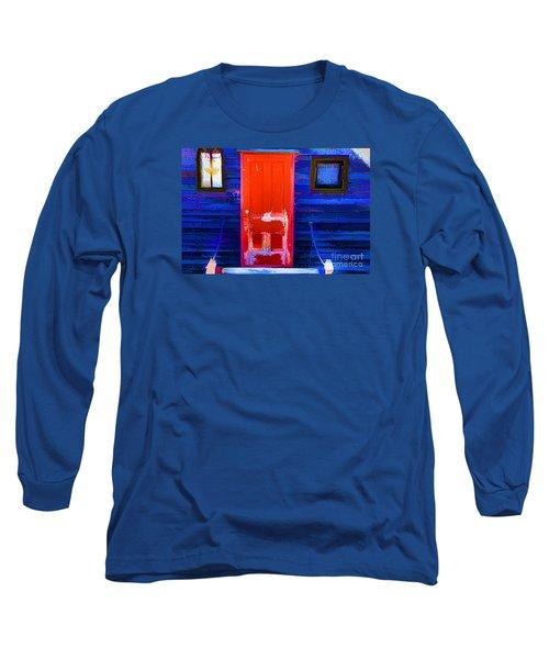 Red Door Harbor Long Sleeve T-Shirt by Rick Bragan