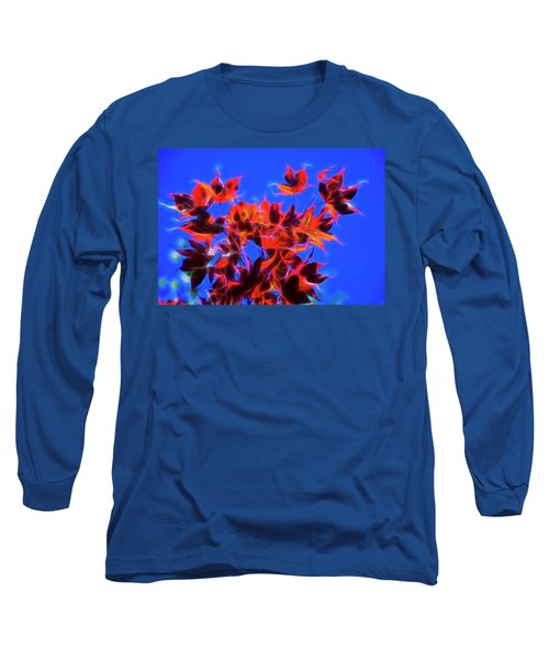 Long Sleeve T-Shirt featuring the photograph Red Maple Leaves by Yulia Kazansky