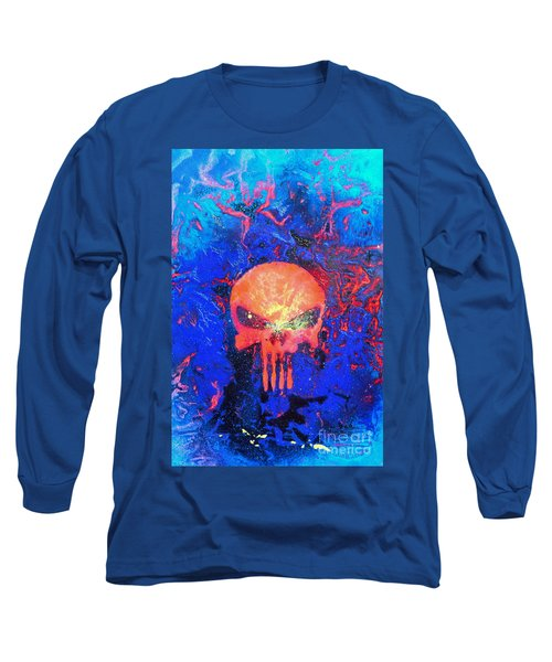 Red Punish Long Sleeve T-Shirt by Justin Moore