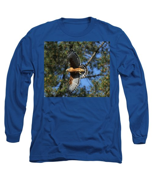 Red Shouldered Hawk Long Sleeve T-Shirt