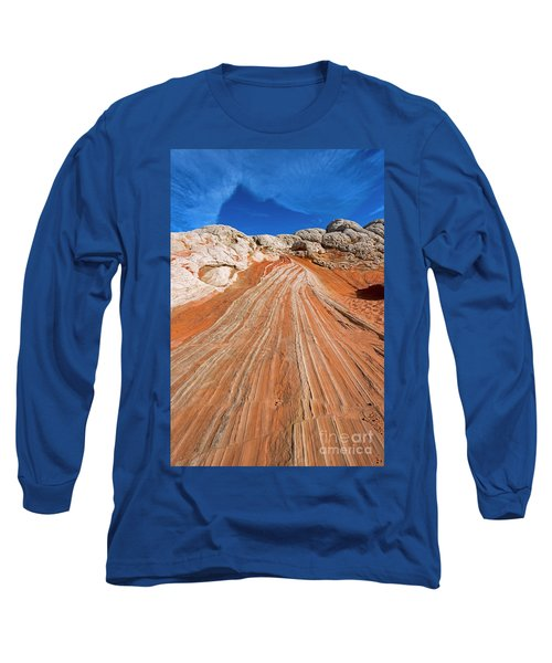 Long Sleeve T-Shirt featuring the photograph Red Stone Highway by Mike Dawson