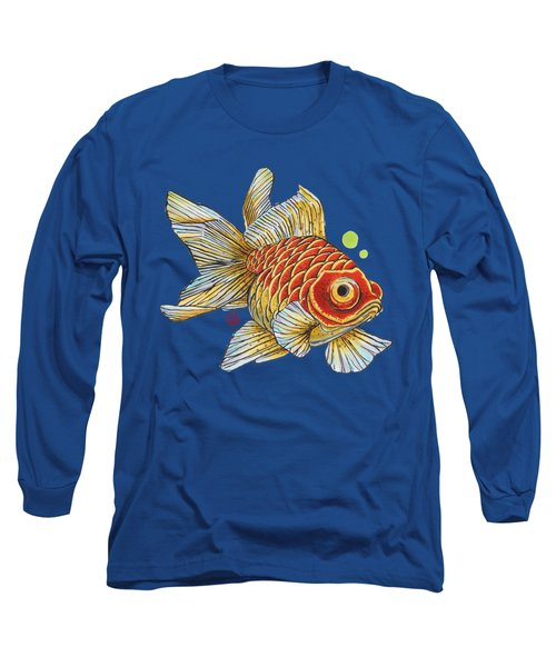Red Telescope Goldfish Long Sleeve T-Shirt by Shih Chang Yang