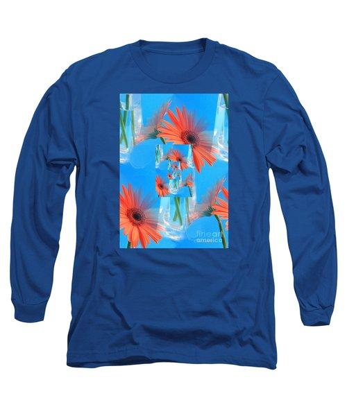 Redundant Gerbera Daisy Long Sleeve T-Shirt