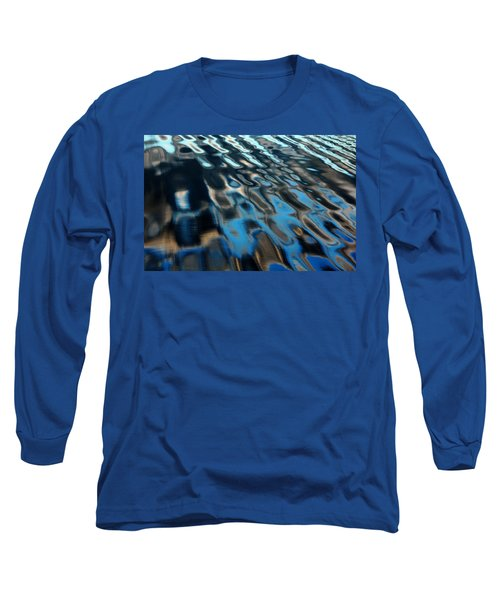 Long Sleeve T-Shirt featuring the photograph Reflections From A Dock by Debbie Oppermann