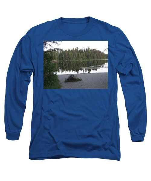Reflections Lake 1 Long Sleeve T-Shirt by Barbara Yearty