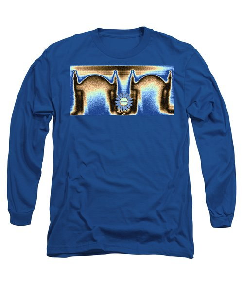 Long Sleeve T-Shirt featuring the mixed media Reserved by Will Borden