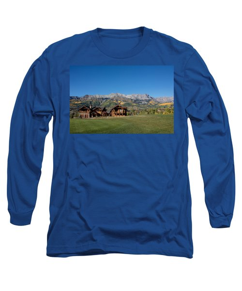 Long Sleeve T-Shirt featuring the photograph Residences In Mountain Village -- A Planned Community Adjacent To Telluride by Carol M Highsmith