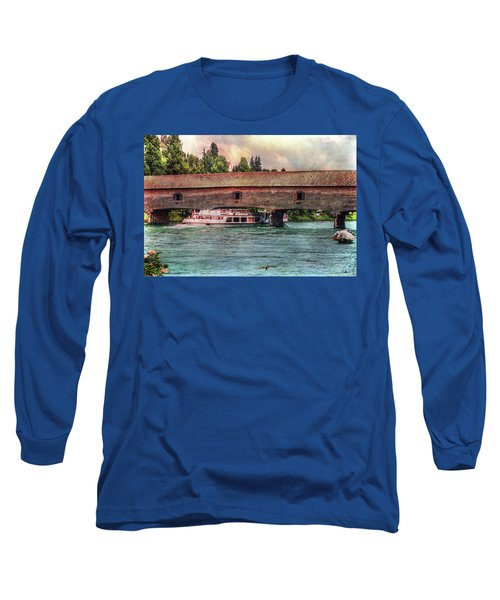 Long Sleeve T-Shirt featuring the photograph Rhine Shipping by Hanny Heim