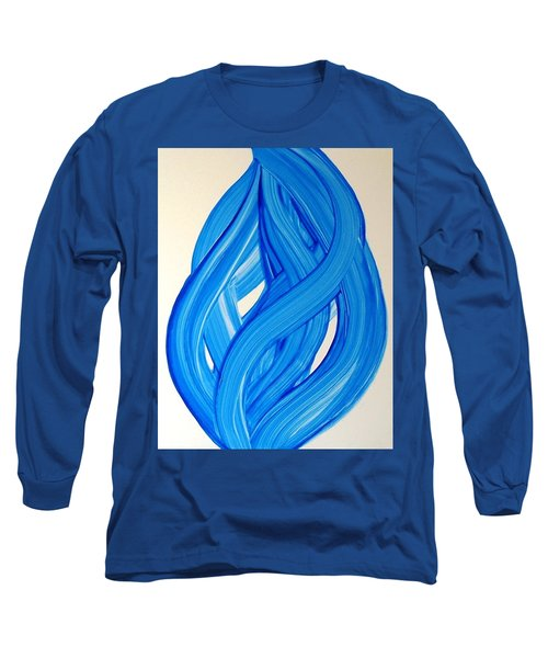 Ribbons Of Love-blue Long Sleeve T-Shirt