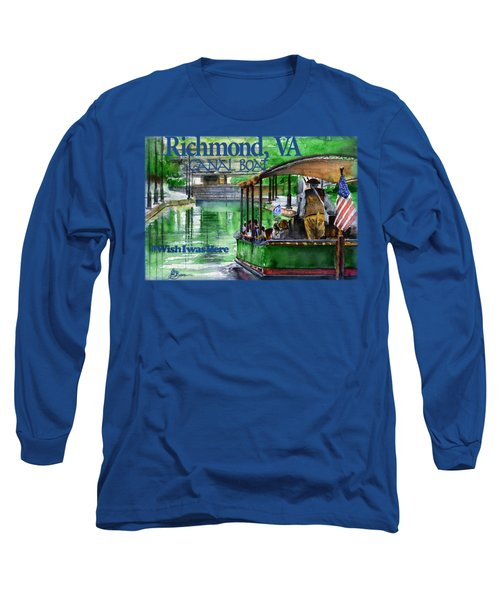 Richmond Va Canal Boat Long Sleeve T-Shirt