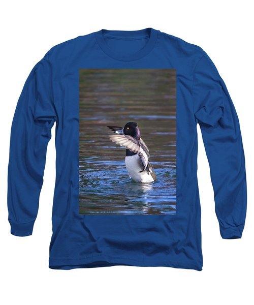 Ring-necked Duck Wings Up Long Sleeve T-Shirt