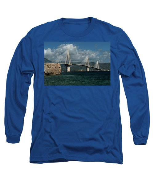 Long Sleeve T-Shirt featuring the photograph Rio-andirio Hanging Bridge by Jaroslaw Blaminsky