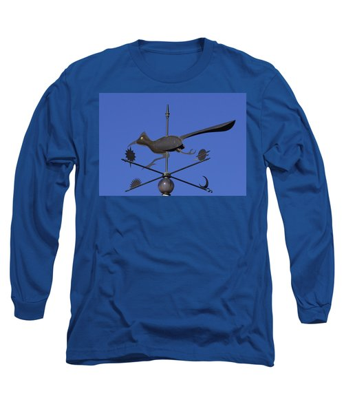 Road Runner Weather Vane Long Sleeve T-Shirt by Joan Hartenstein